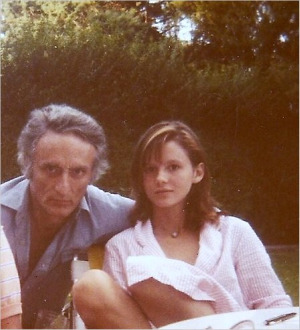 Larry Rivers and daughter Emma Tamburlini, c. 1981...photo by Daria Deshuk...http://www.nytimes.com/2010/07/17/arts/...design/17rivers.html