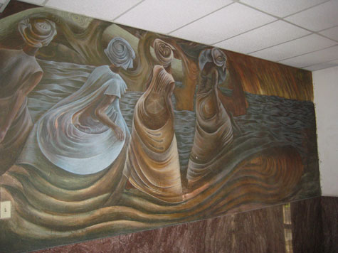 Harvey Johnson's 1970-71 mural, Mothers of the Fathers and the Son